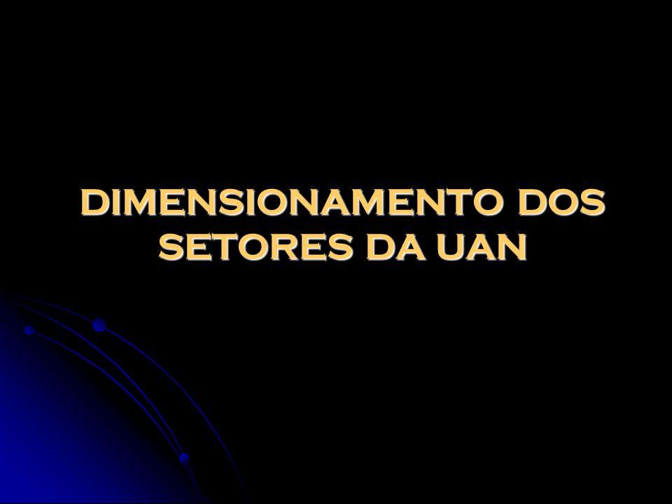 DIMENSIONAMENTO DOS SETORES DA UAN