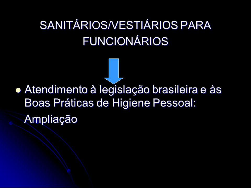 SANITÁRIOS/VESTIÁRIOS PARA