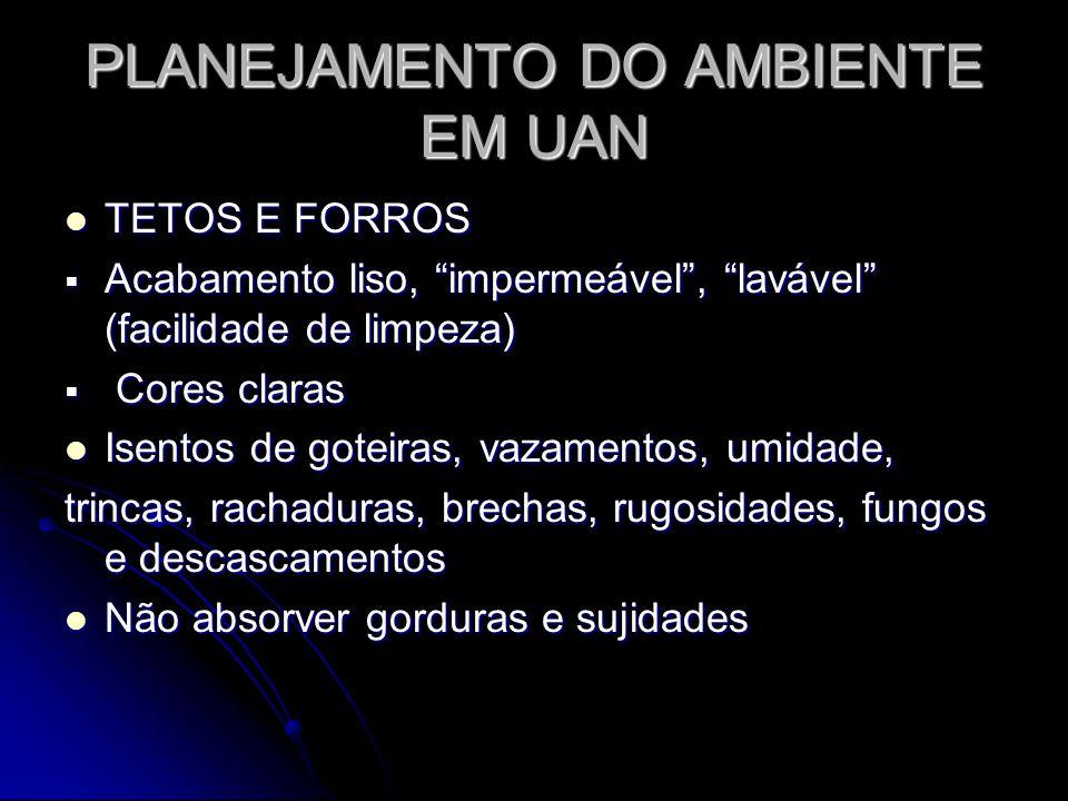 PLANEJAMENTO DO AMBIENTE EM UAN