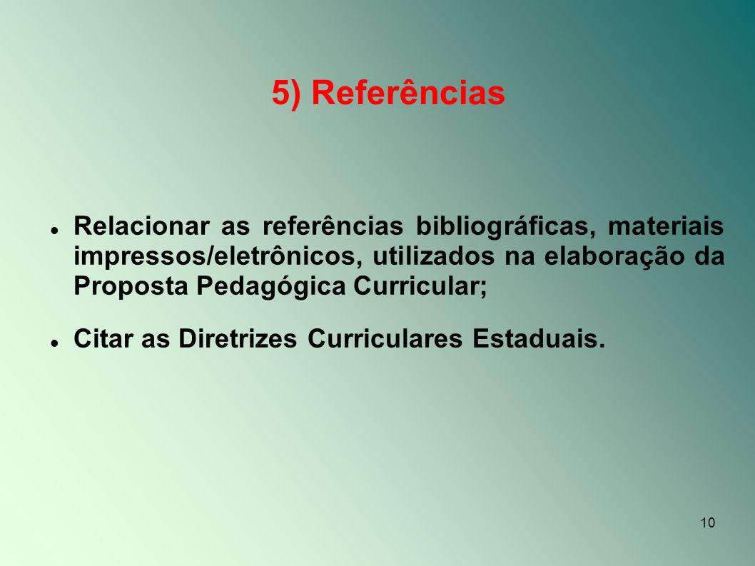 5) Referências