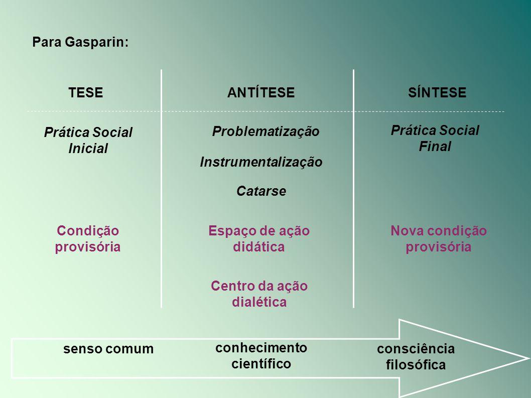 Prática Social Inicial Problematização Prática Social Final