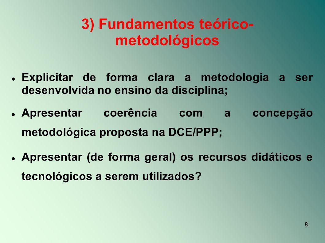 3) Fundamentos teórico-metodológicos