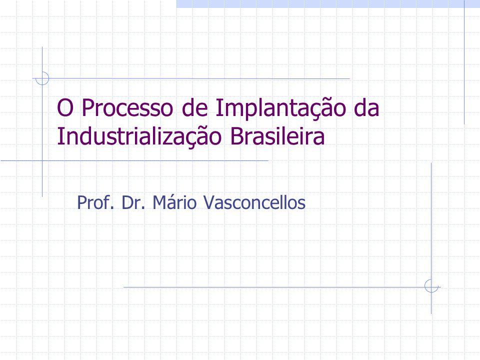O Processo de Implantação da Industrialização Brasileira