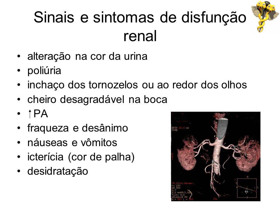 Sinais e sintomas de disfunção renal
