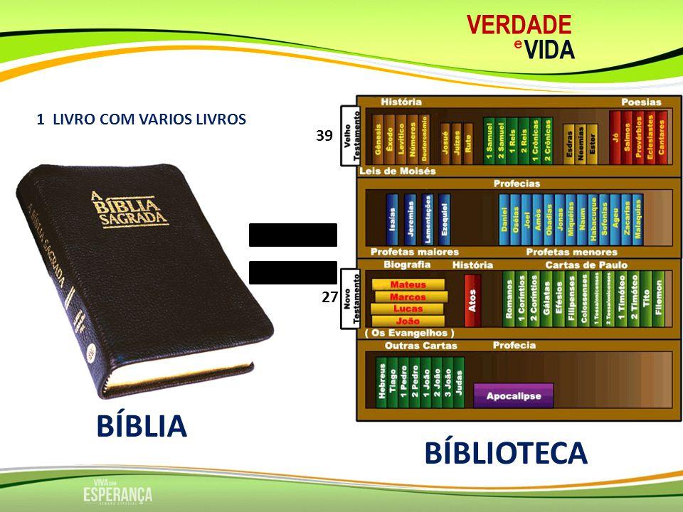 VERDADE e VIDA 1 LIVRO COM VARIOS LIVROS 39 27 BÍBLIA BÍBLIOTECA