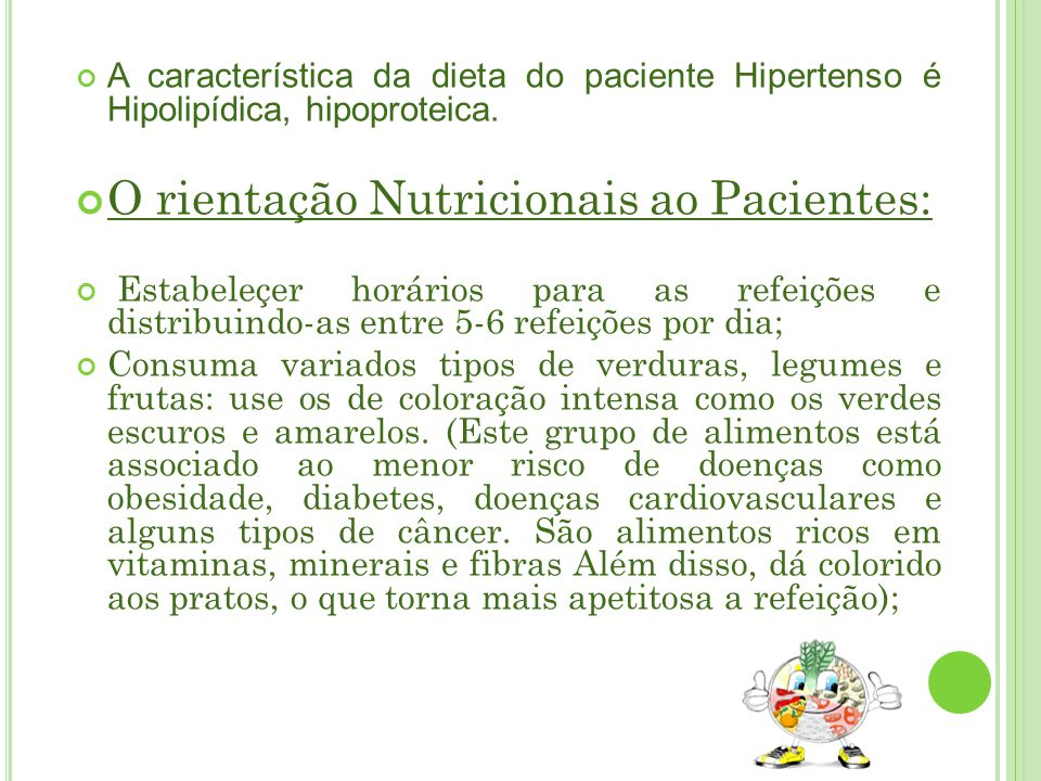 O rientação Nutricionais ao Pacientes: