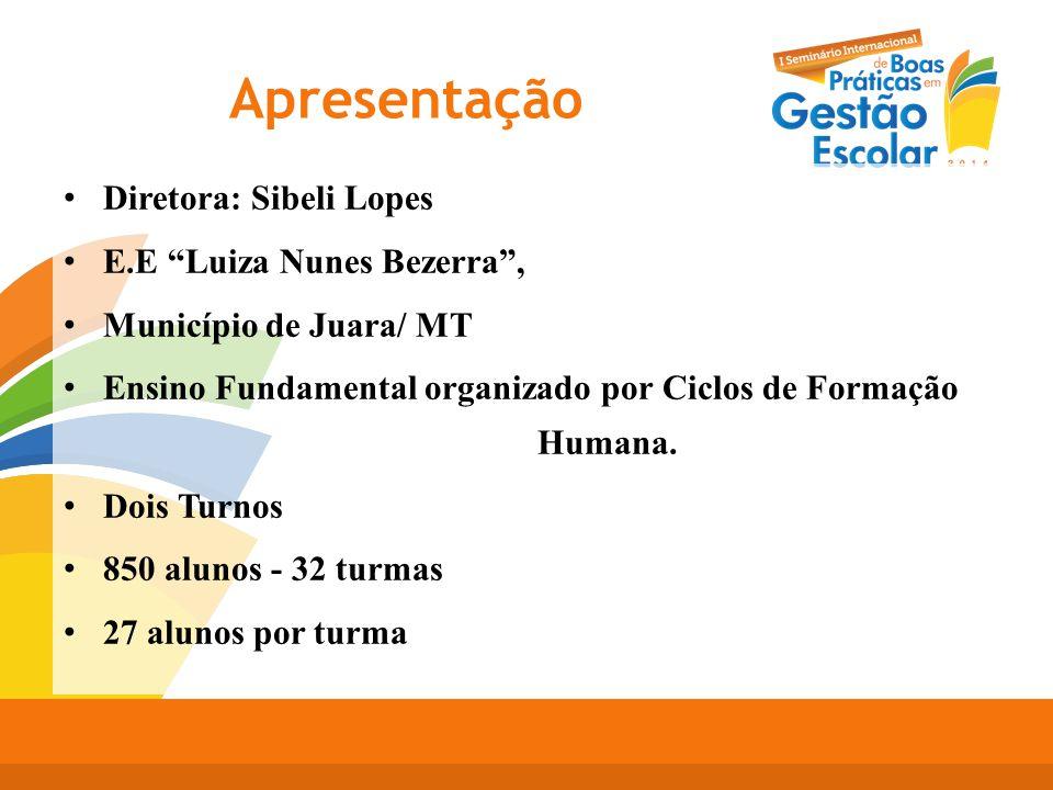 Apresentação Diretora: Sibeli Lopes E.E Luiza Nunes Bezerra ,