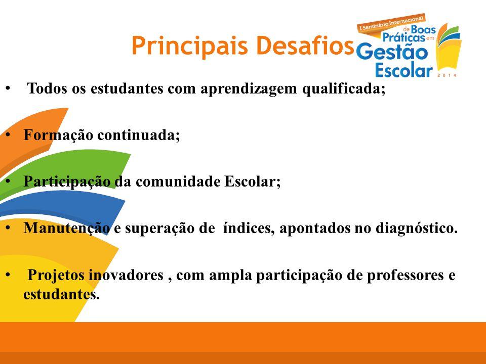 Principais Desafios Todos os estudantes com aprendizagem qualificada;