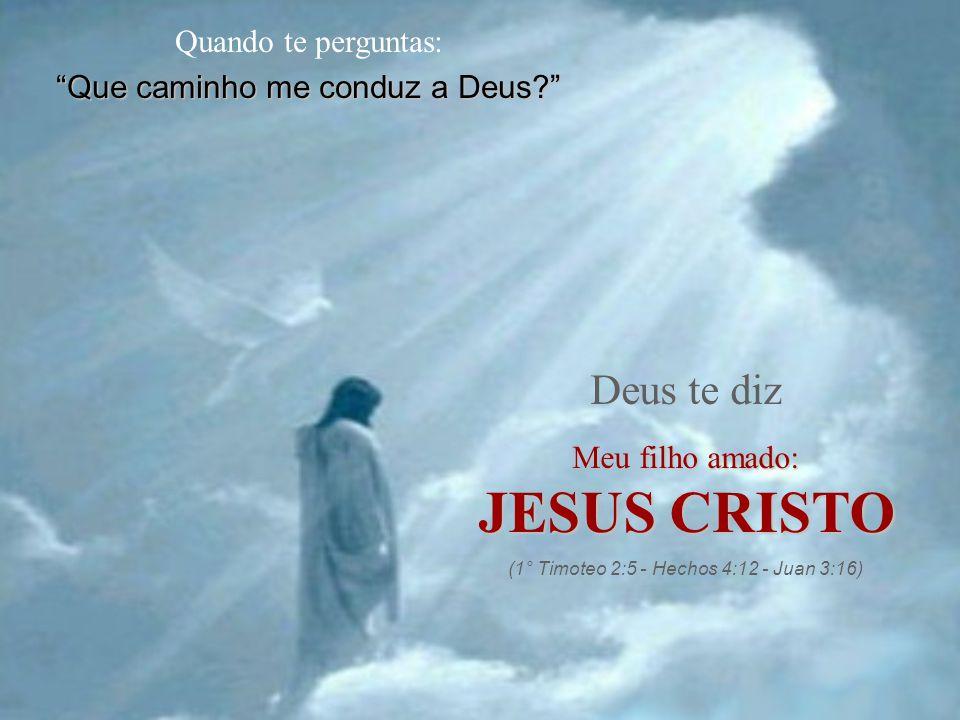 JESUS CRISTO Deus te diz Quando te perguntas: