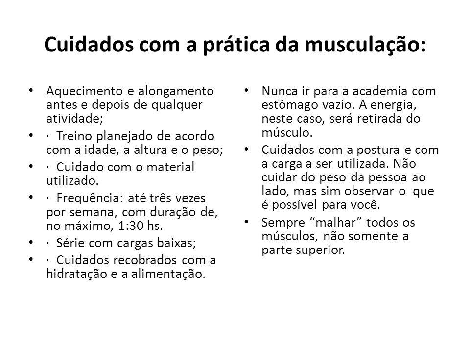 Cuidados com a prática da musculação: