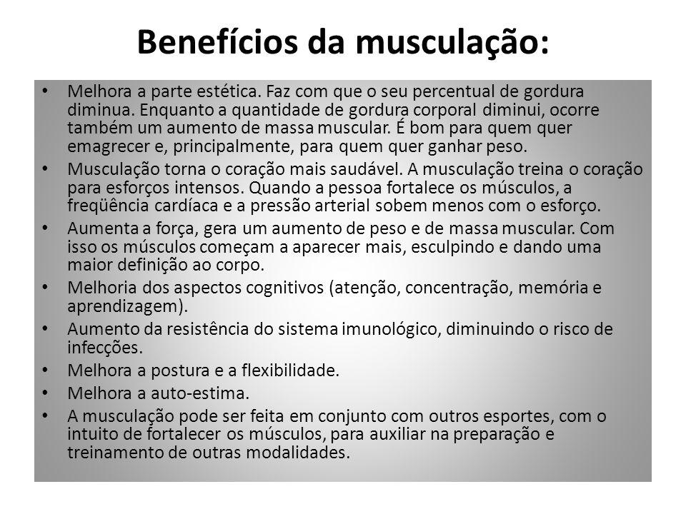 Benefícios da musculação: