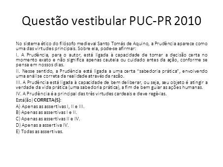 Questão vestibular PUC-PR 2010