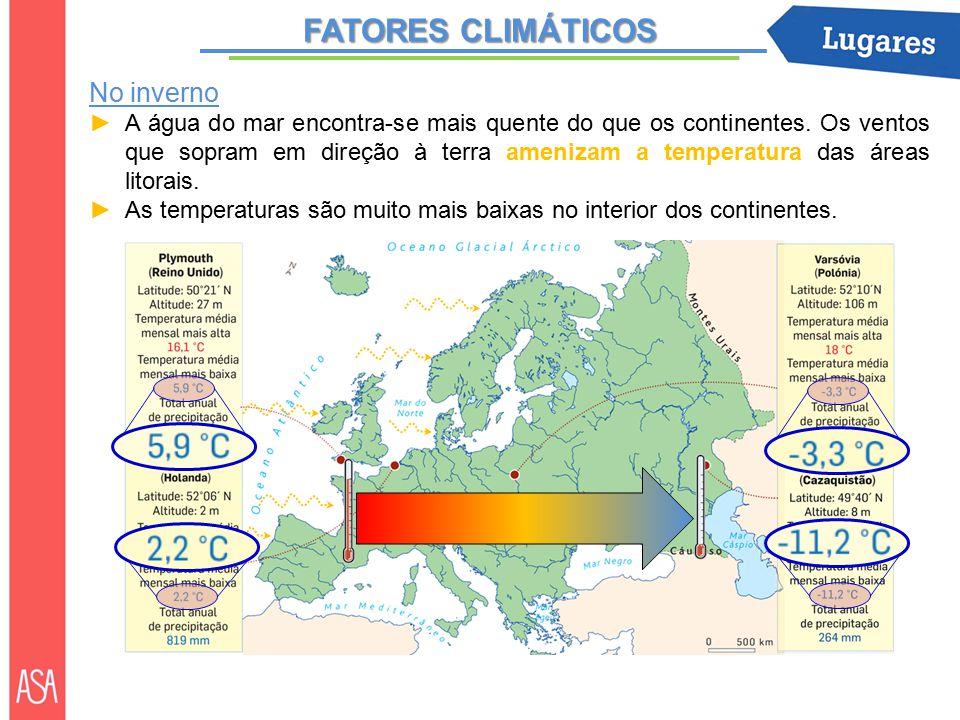 FATORES CLIMÁTICOS No inverno