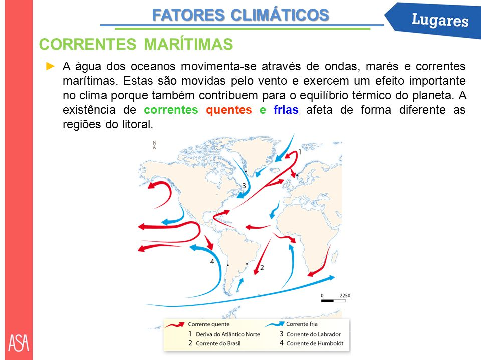 FATORES CLIMÁTICOS CORRENTES MARÍTIMAS