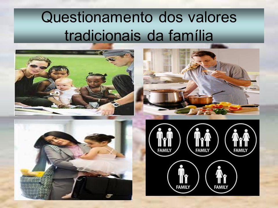 Questionamento dos valores tradicionais da família