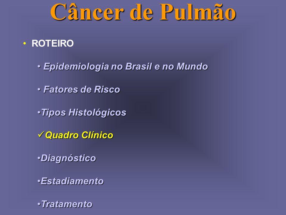 Câncer de Pulmão ROTEIRO Epidemiologia no Brasil e no Mundo