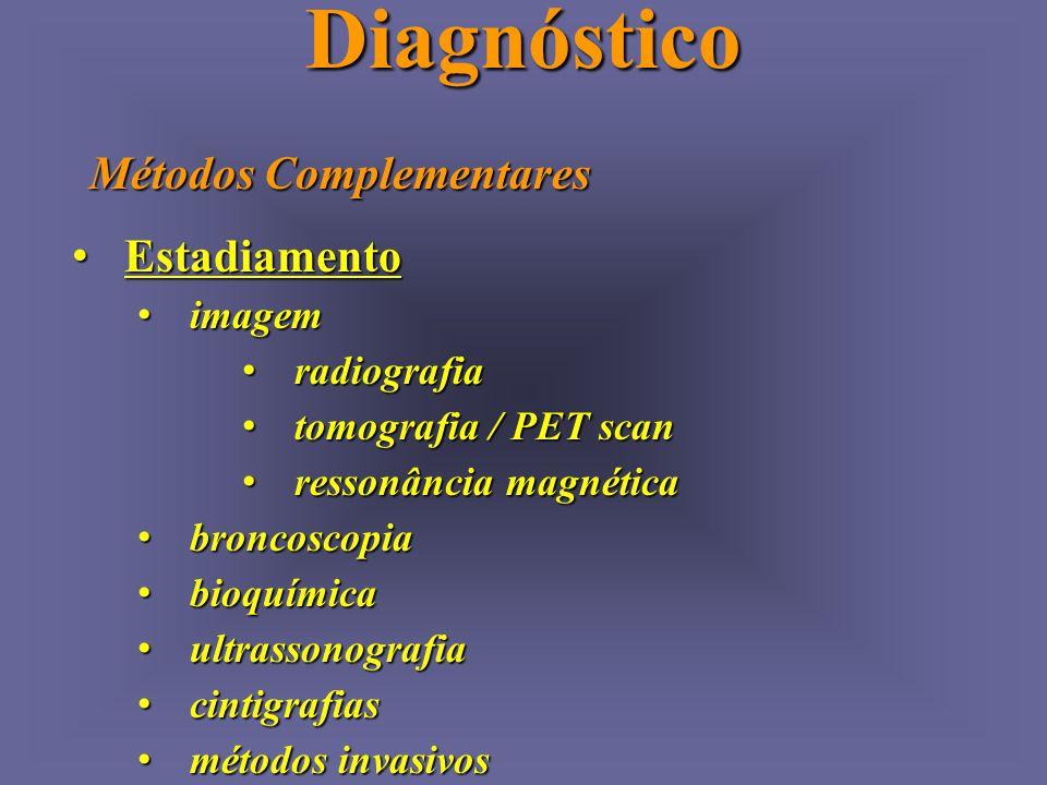 Diagnóstico Métodos Complementares Estadiamento imagem radiografia