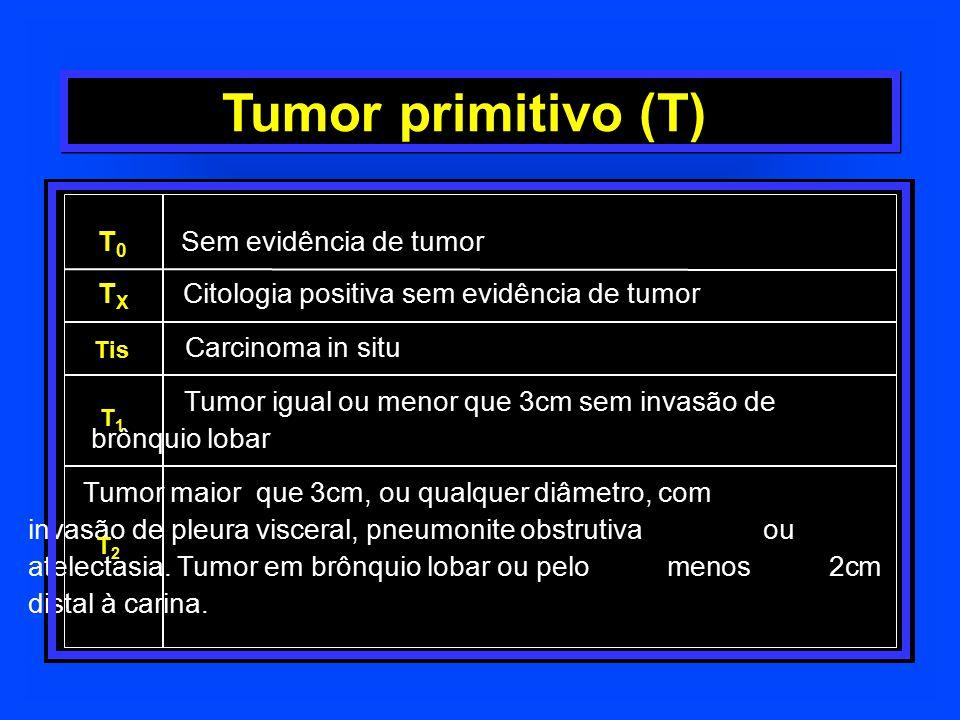 Tumor primitivo (T) T0 Sem evidência de tumor