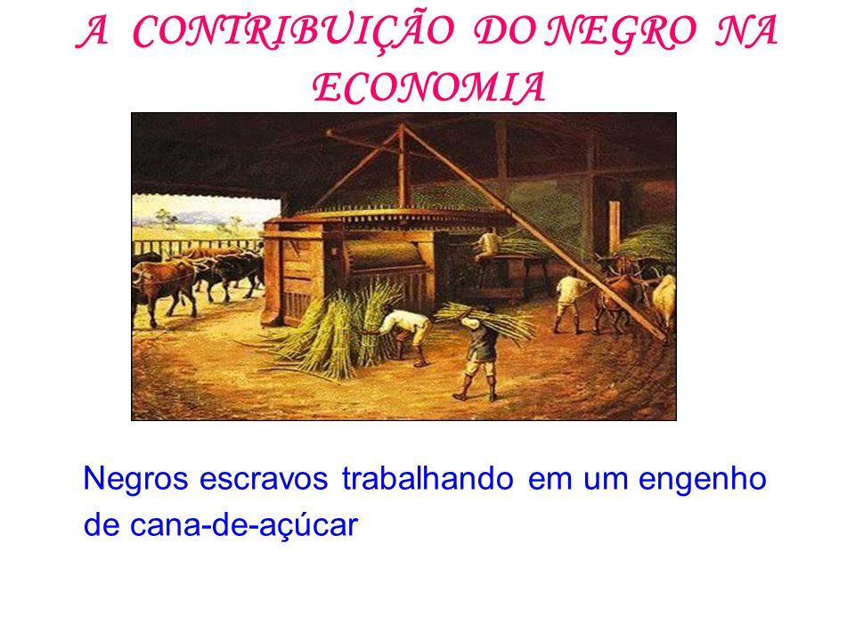 A CONTRIBUIÇÃO DO NEGRO NA ECONOMIA