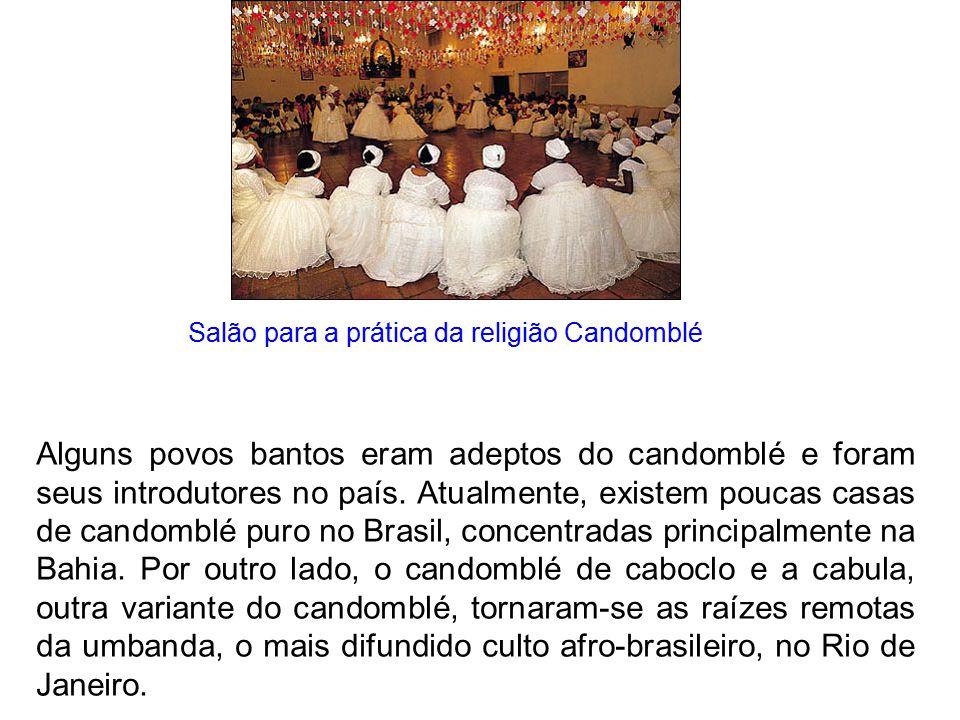 Salão para a prática da religião Candomblé