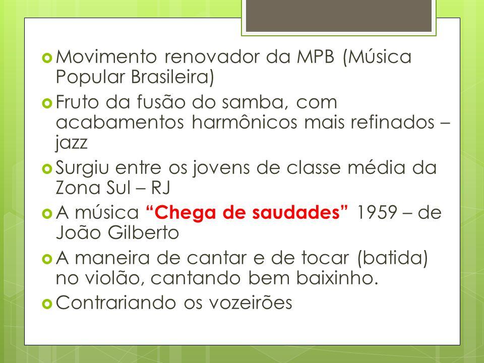 Movimento renovador da MPB (Música Popular Brasileira)