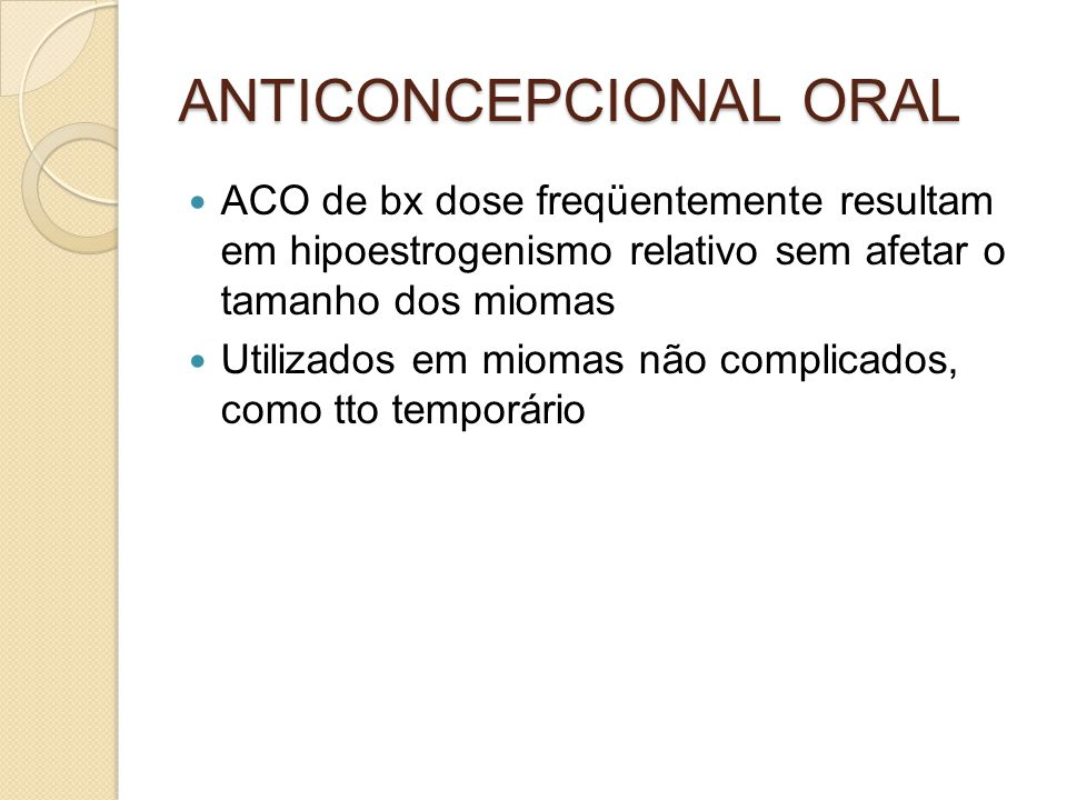 ANTICONCEPCIONAL ORAL