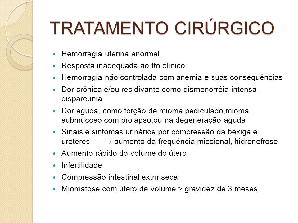 TRATAMENTO CIRÚRGICO Hemorragia uterina anormal