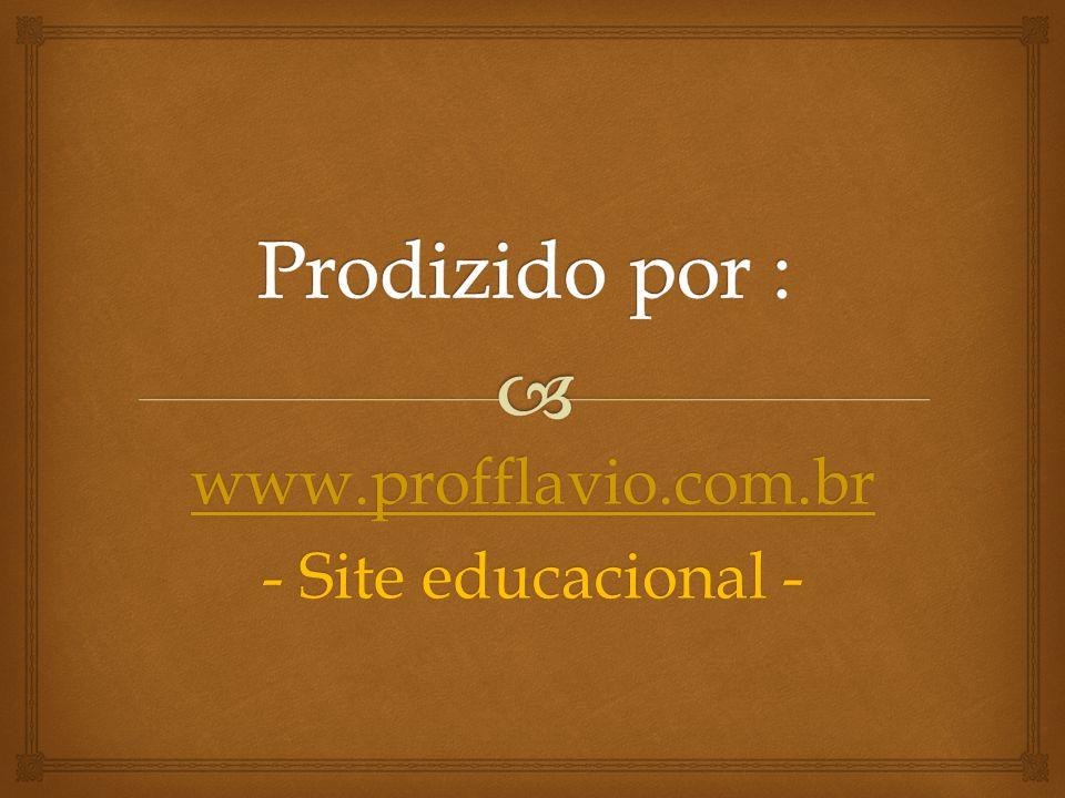 www.profflavio.com.br - Site educacional -