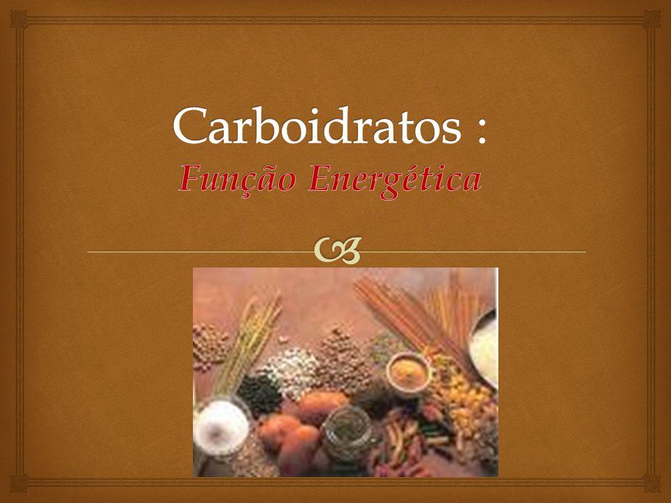 Carboidratos : Função Energética