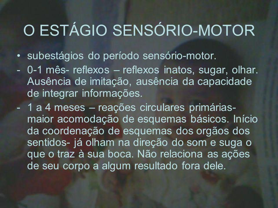 O ESTÁGIO SENSÓRIO-MOTOR
