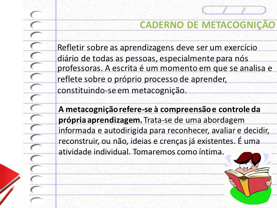 CADERNO DE METACOGNIÇÃO