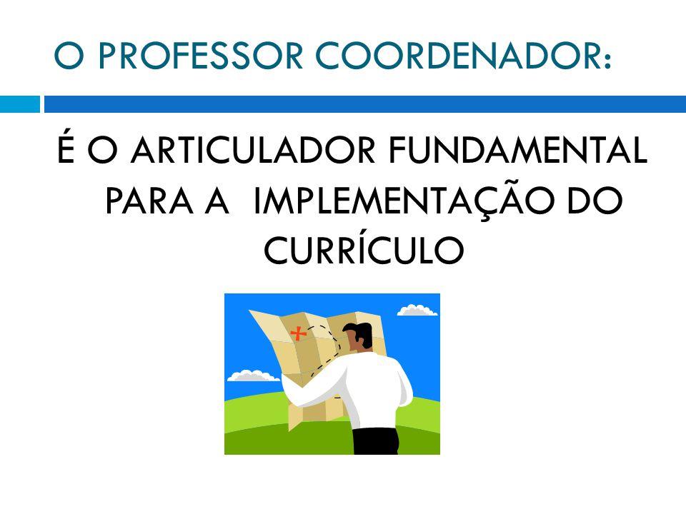 O PROFESSOR COORDENADOR: