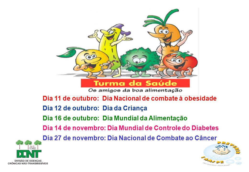 Dia 11 de outubro: Dia Nacional de combate à obesidade
