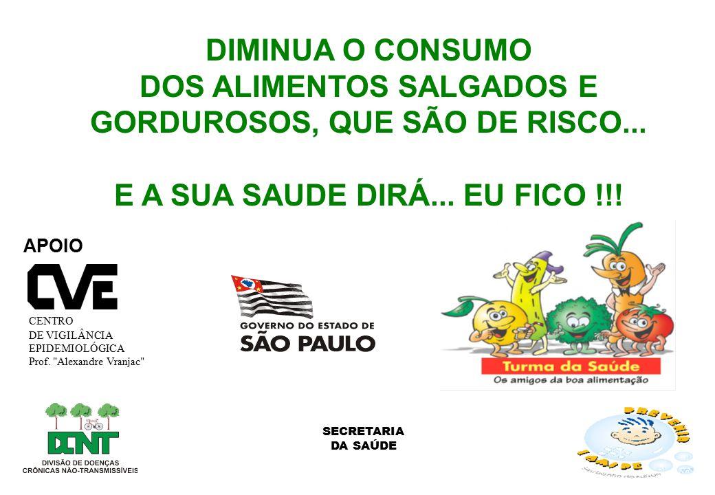 DOS ALIMENTOS SALGADOS E GORDUROSOS, QUE SÃO DE RISCO...