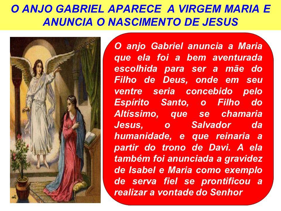 O ANJO GABRIEL APARECE A VIRGEM MARIA E ANUNCIA O NASCIMENTO DE JESUS