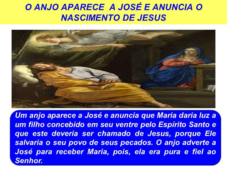 O ANJO APARECE A JOSÉ E ANUNCIA O NASCIMENTO DE JESUS