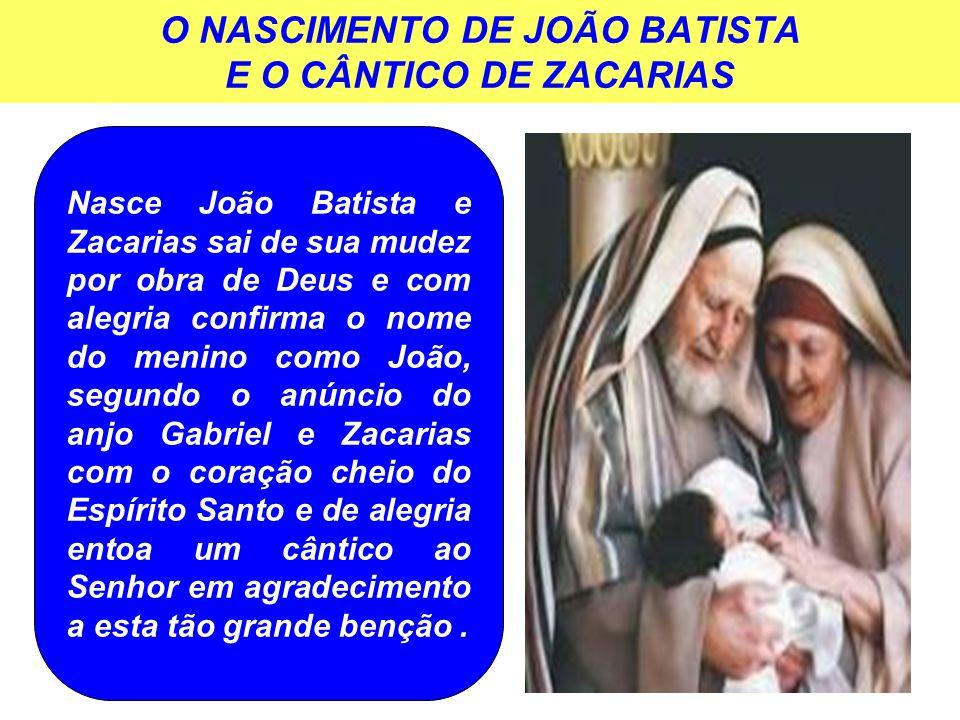 O NASCIMENTO DE JOÃO BATISTA E O CÂNTICO DE ZACARIAS