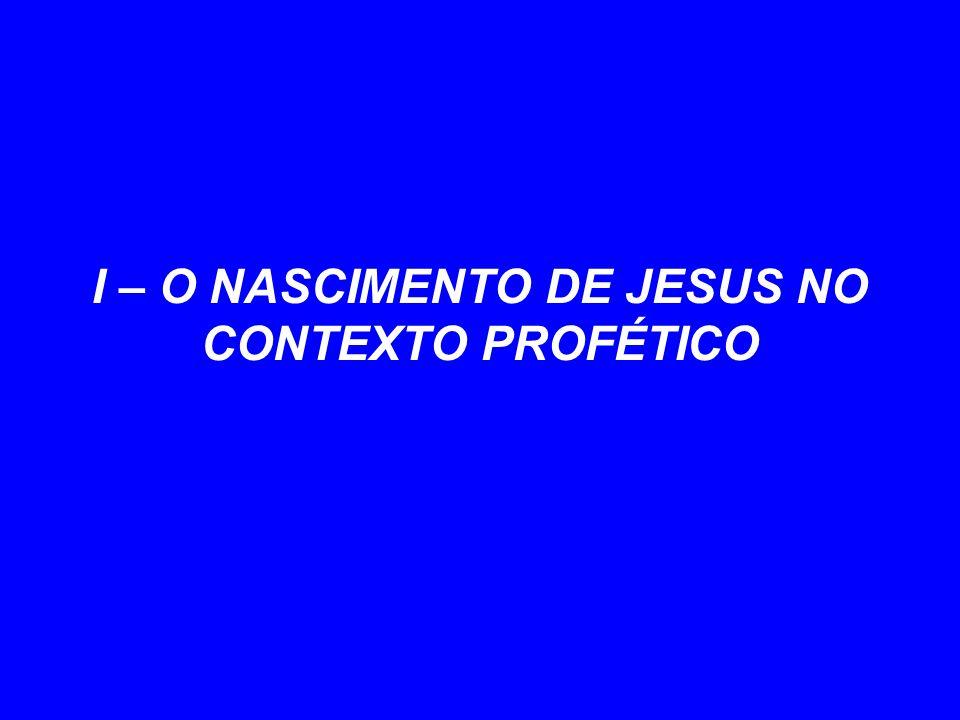 I – O NASCIMENTO DE JESUS NO CONTEXTO PROFÉTICO