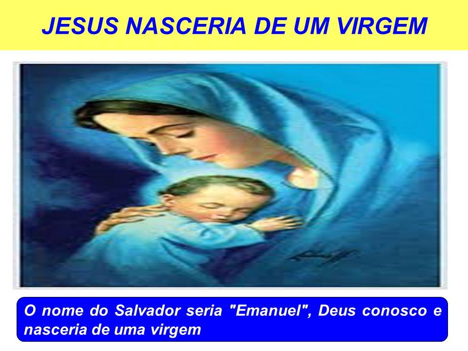 JESUS NASCERIA DE UM VIRGEM