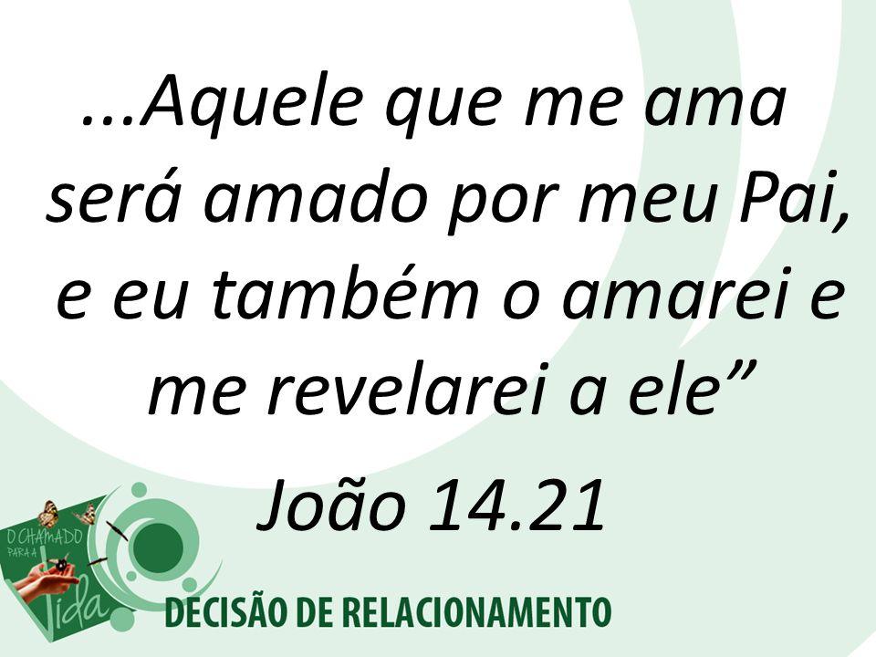 ...Aquele que me ama será amado por meu Pai, e eu também o amarei e me revelarei a ele João 14.21