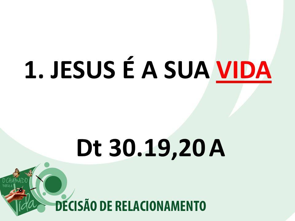 JESUS É A SUA VIDA Dt 30.19,20 A