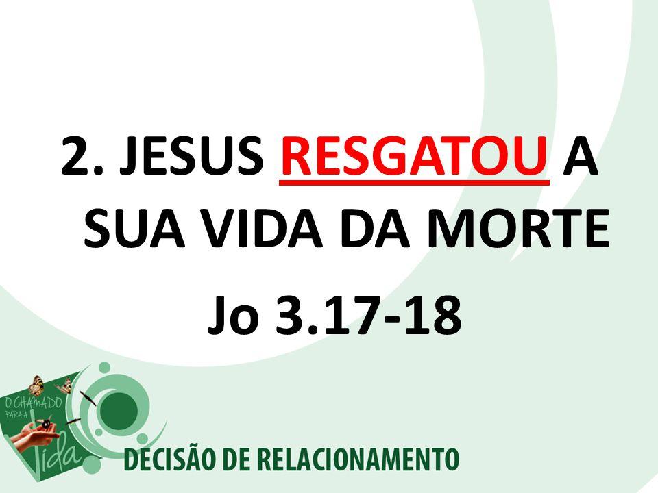JESUS RESGATOU A SUA VIDA DA MORTE