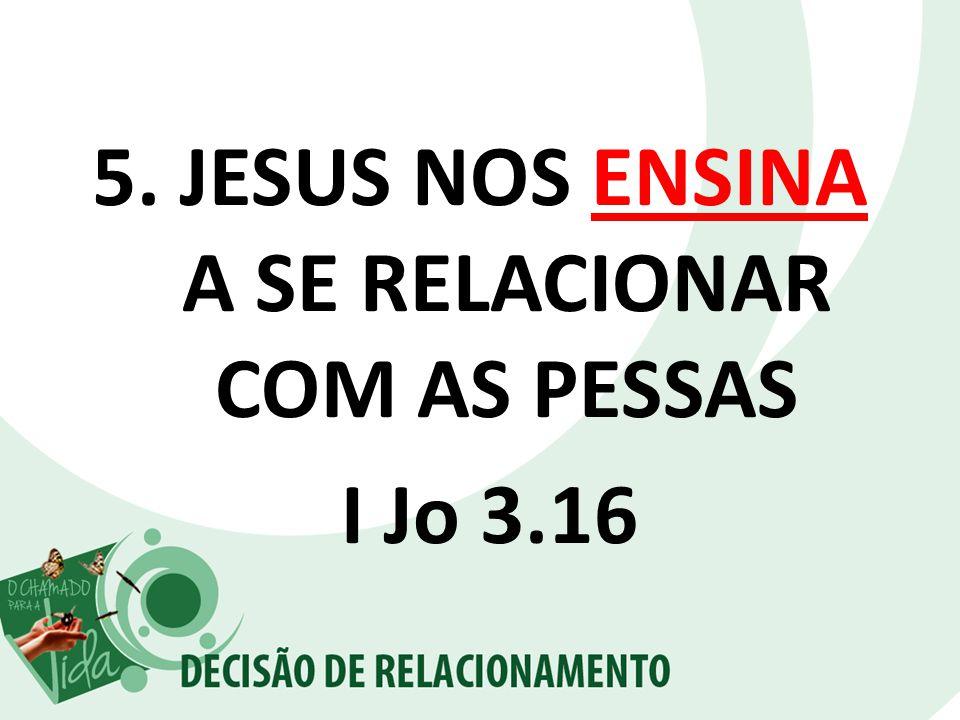 JESUS NOS ENSINA A SE RELACIONAR COM AS PESSAS