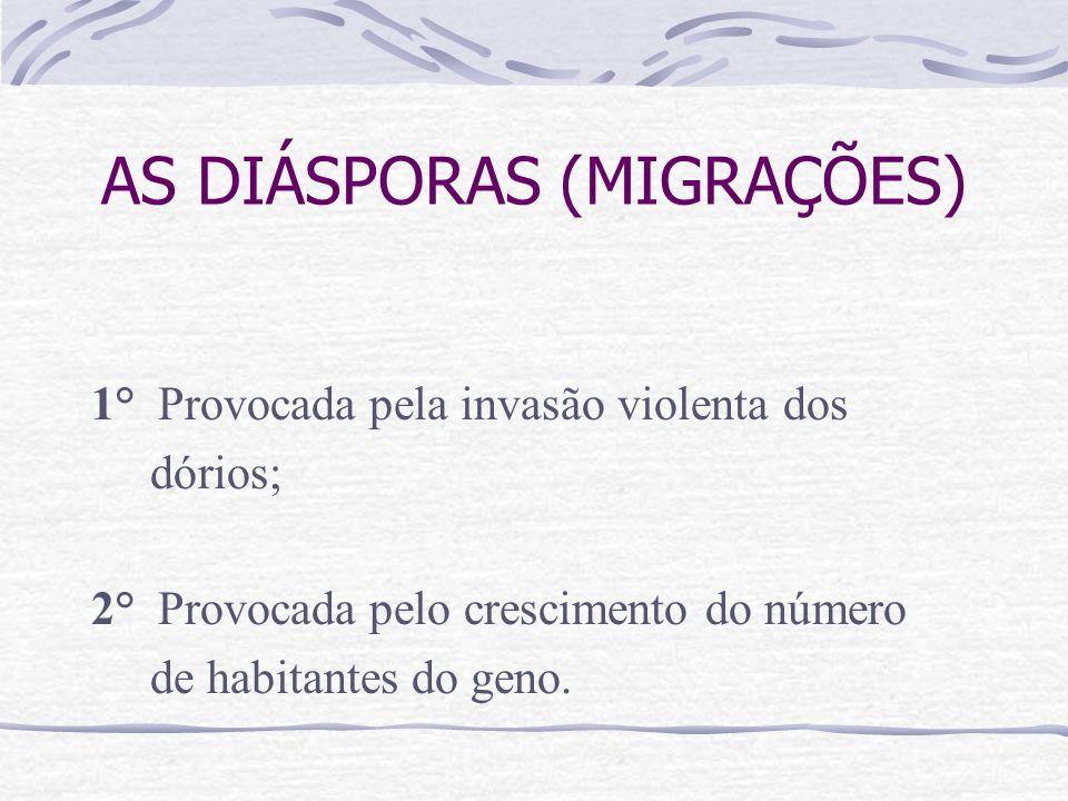 AS DIÁSPORAS (MIGRAÇÕES)