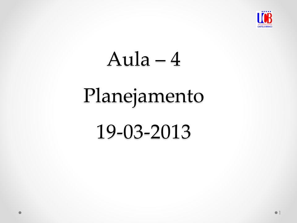 Aula – 4 Planejamento 19-03-2013