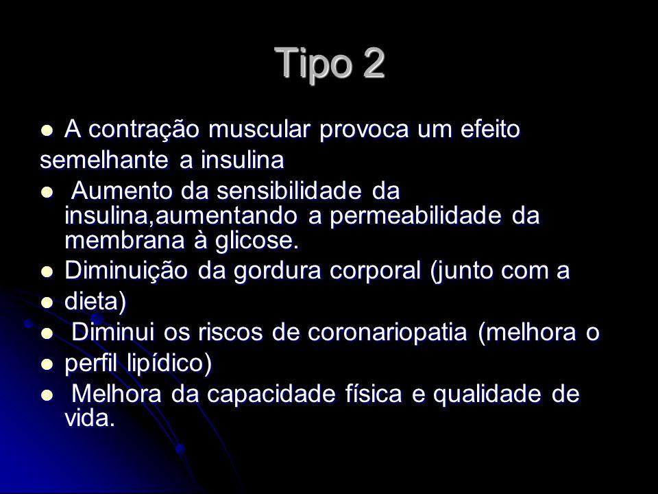 Tipo 2 A contração muscular provoca um efeito semelhante a insulina