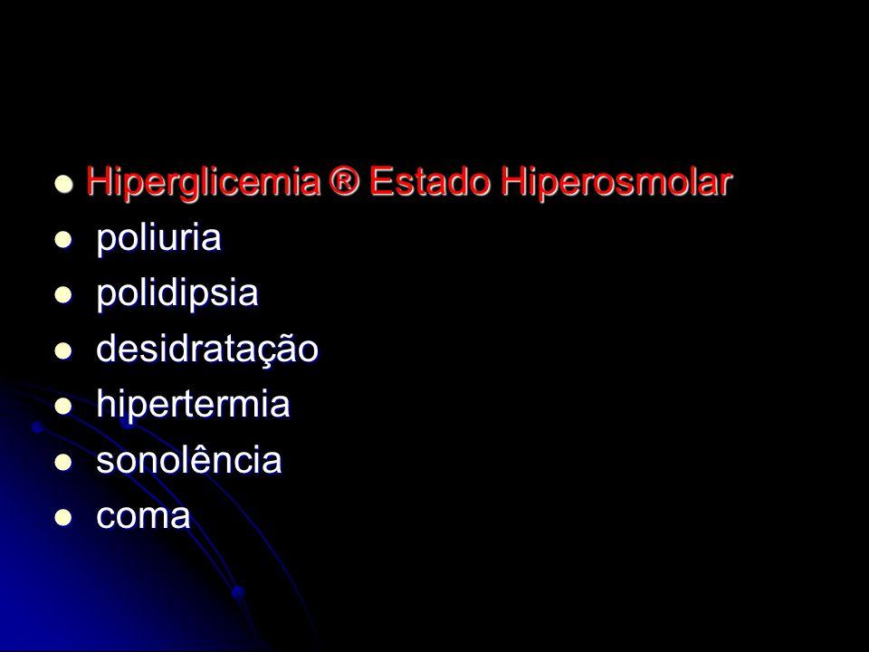 Hiperglicemia ® Estado Hiperosmolar