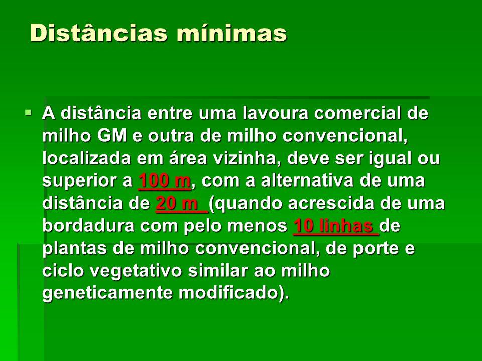 Distâncias mínimas