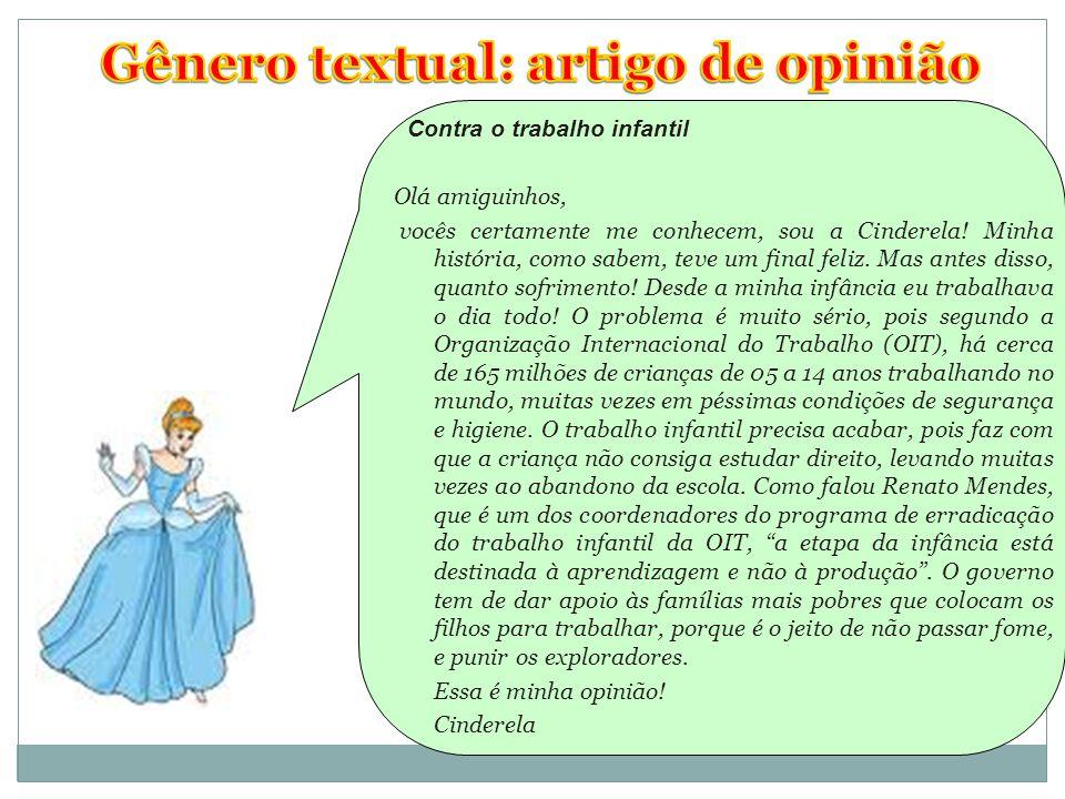 Gênero textual: artigo de opinião