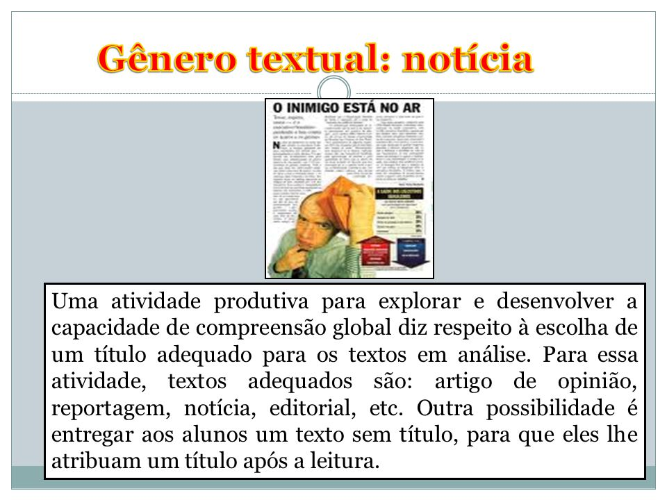 Gênero textual: notícia